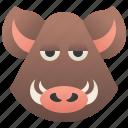 boar, hog, pig, razorback, wild icon