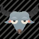 asia, bovidae, buffalo, farmer, water icon