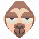 jungle, gorilla, primate, africa, ape icon