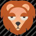 africa, feline, lion, male, savanna icon