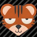 carnivore, cat, feline, tiger, wild icon