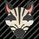 africa, safari, savanna, stripes, zebra icon