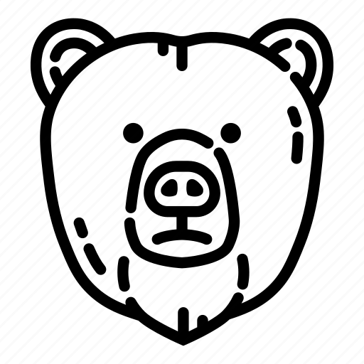 animal, bear, cute, grizzly, nature, wild, wildlife icon