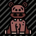 animal, hippopotamus, mammal, wildlife