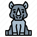 animal, rhino, wildlife, zoo