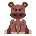animal, hippopotamus, mammal, wildlife icon