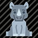 wildlife, rhino, animal, zoo icon