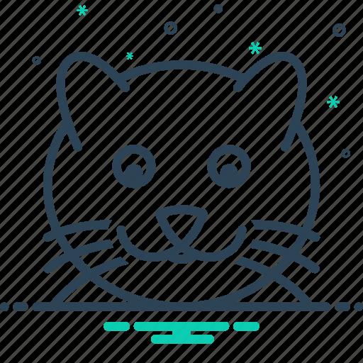 animal, cat, face icon
