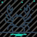 animals, crab, food, sea icon