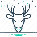 animal, zoo, deer icon