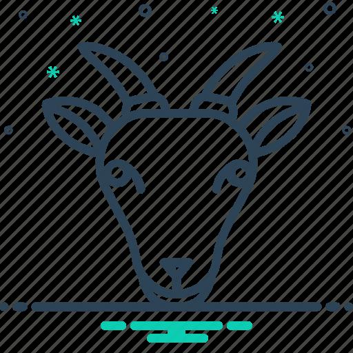 animals, face, goat icon