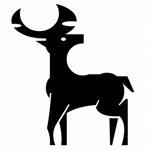 africa, deer, forest, jungle, nature, stag, wild icon