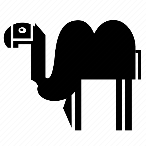 africa, animal, asia, camel, desert, nature, zoo icon