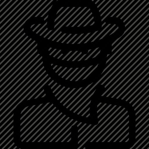 avatar, bandit, cowboy, sheriff, user icon
