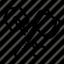 axe, crossed, hand, logo, shovel, silhouette, tree