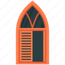 apartment window, balcony window, construction, window casement, wooden window icon