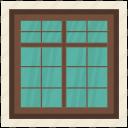 apartment window, balcony window, home window, living room, window frame icon