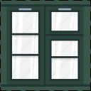 casement window, house window, window, window case, window frame icon