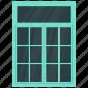 balcony window, house window, window, window frame icon