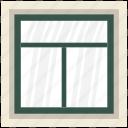 casement, house window, window, window case, window frame icon
