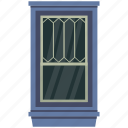 home interior, room window, window case, window exterior, window frame icon