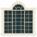 casement, home interior, house window, window, window frame icon