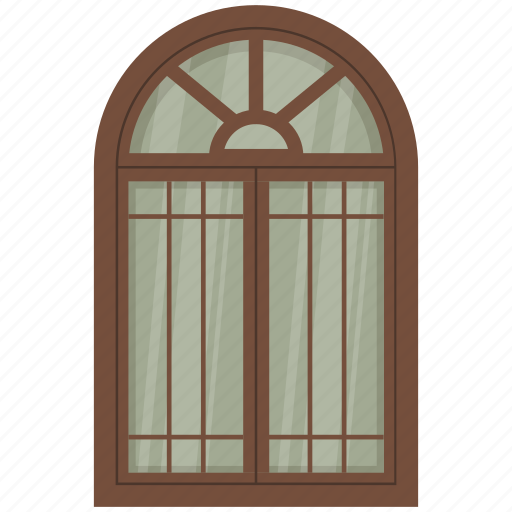 Home Interior Room Window Case Exterior Frame Icon