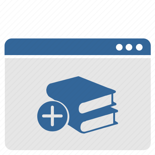 add, book, cart, plus, shopping, ui, window icon