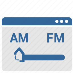 am, choice, internet, radio, ui, window icon