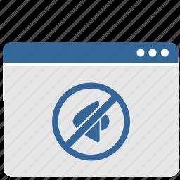 cancel, device, mute, sound, ui, window icon