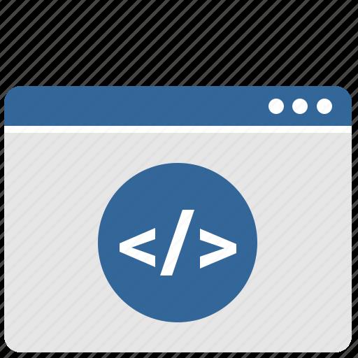code, html, php, ui, window icon