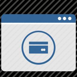 banking, card, credit, ui, window icon