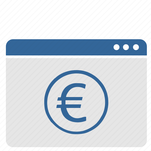 banking, euro, money, window icon