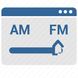 choice, fm, radio, ui, window icon