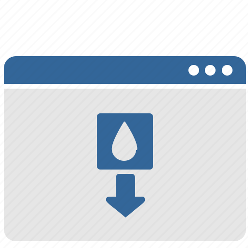 control, drop, eject, ink, ui, window icon