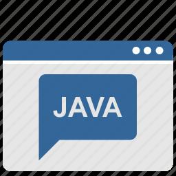 java, language, request, ui, window icon