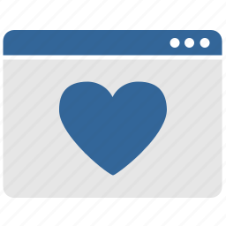 like, love, ui, window icon