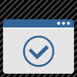 accept, complete, ok, process, ui, window icon