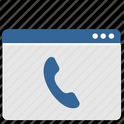 call, online, phone, ui, window icon