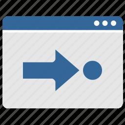 arrow, target, ui, window icon