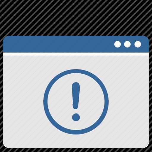 attention, process, ui, warning, window icon