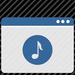 music, round, sound, ui, window icon