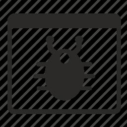 antivirus, api, bug, security, virus, window icon