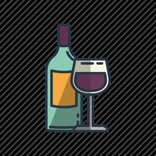 bottle, celebrating, cheers, drinking, glass, restaurant, wine icon