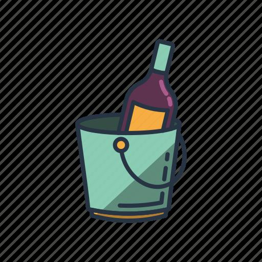 alcohol, bottle, celebrating, drinking, restaurant, wine, wine cooler icon