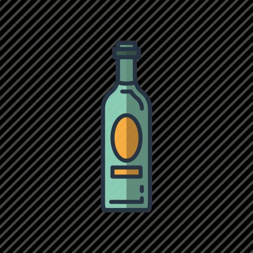bottles, cheers, drinking, restaurant, wine icon