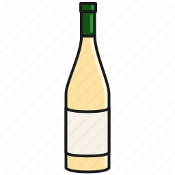 bottle, celebration, chardonnay, drink, party, white, wine icon
