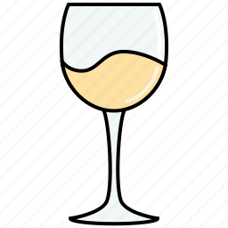 chardonnay, dinner, drink, glass, party, white, wine icon
