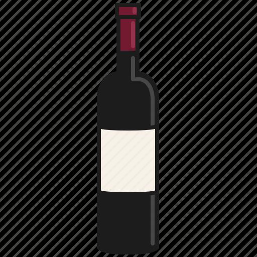 bottle, cabernet, drink, merlot, red, shiraz, wine icon