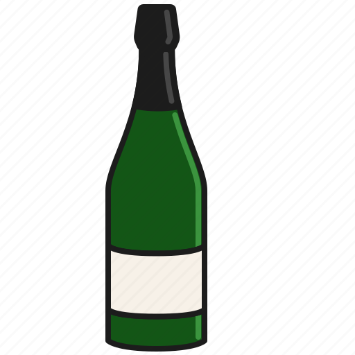 bottle, celebration, champagne, party, prosecco, sparkling, wine icon